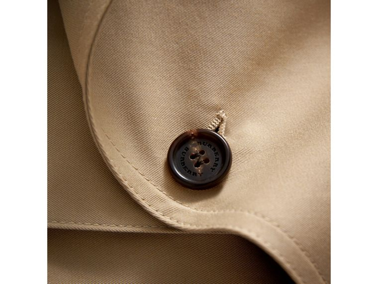 Panel Detail Cotton Gabardine Trench Coat in Honey - Girl | Burberry - cell image 1