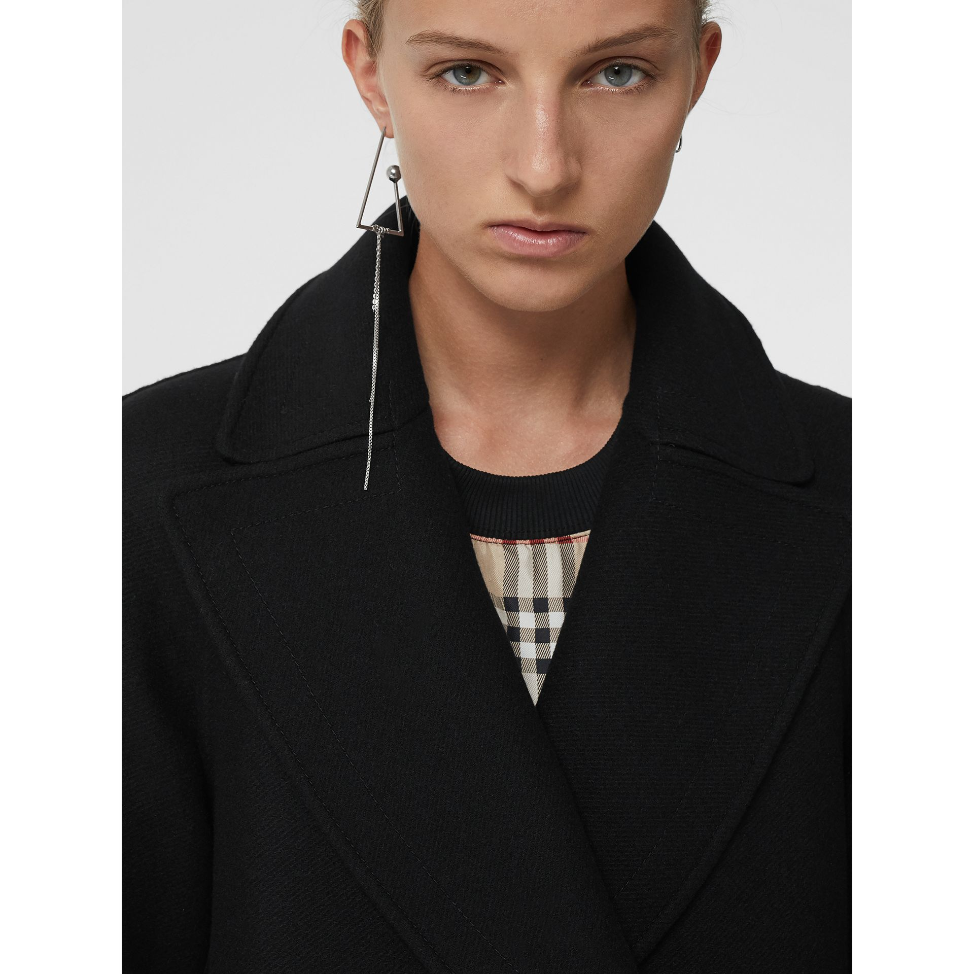 Double-faced Cashmere Tailored Coat in Black - Women | Burberry - gallery image 1