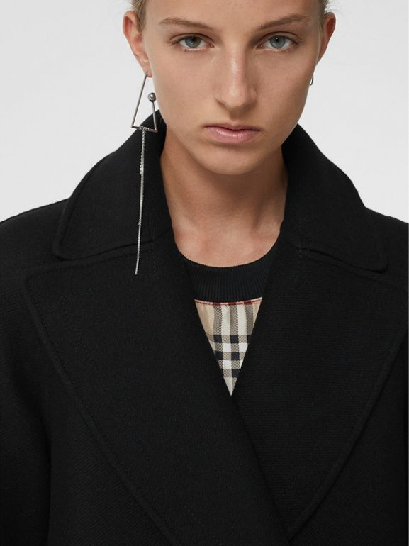 Double-faced Cashmere Tailored Coat in Black - Women | Burberry Singapore - cell image 1
