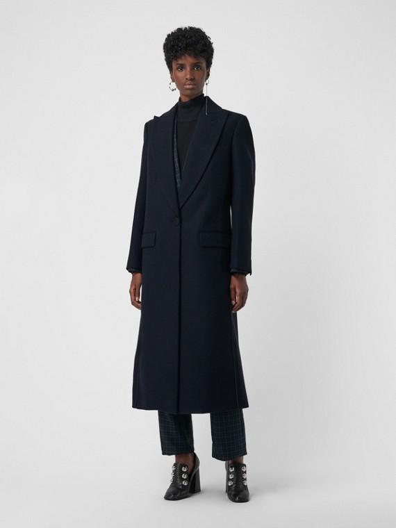 Abrigo de vestir en cachemir (Azul Marino)