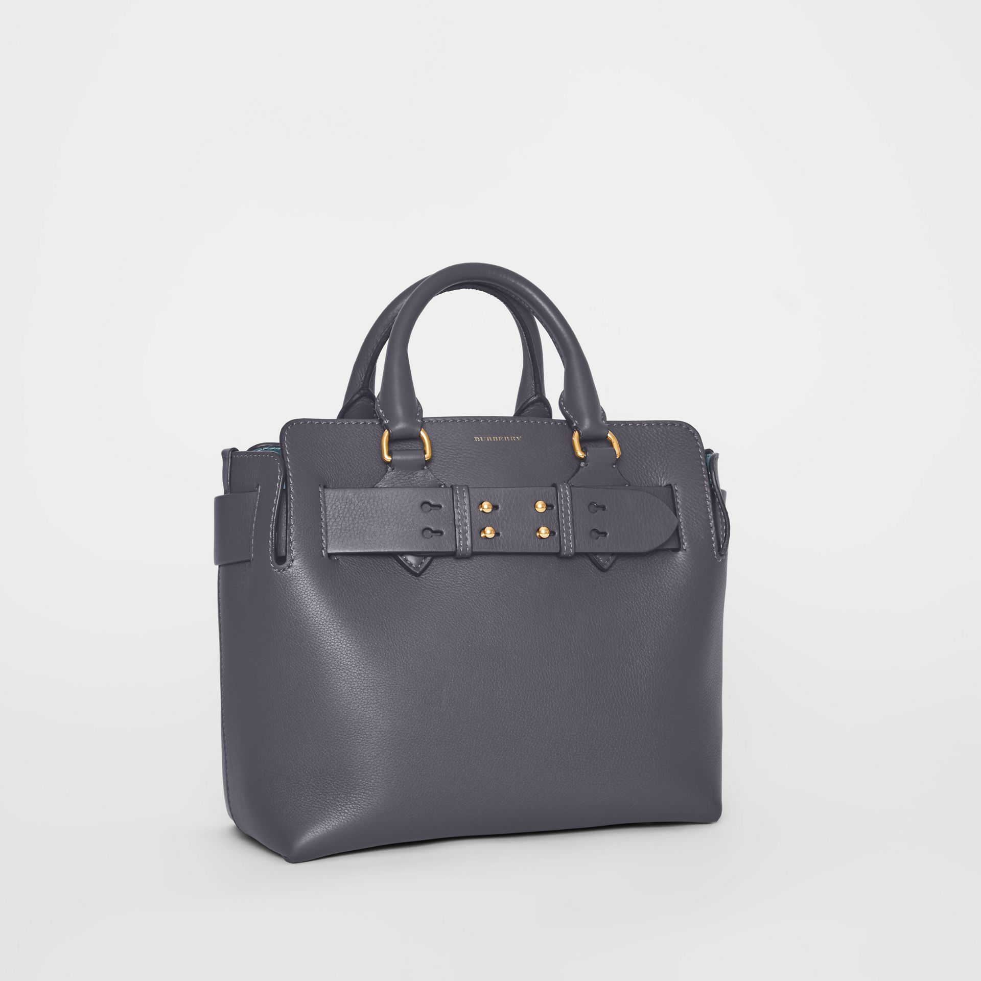 The Small Leather Belt Bag in Charcoal Grey - Women | Burberry - gallery image 4