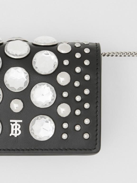 Porte-cartes en cuir avec ornements et sangle amovible (Noir)   Burberry Canada - cell image 1