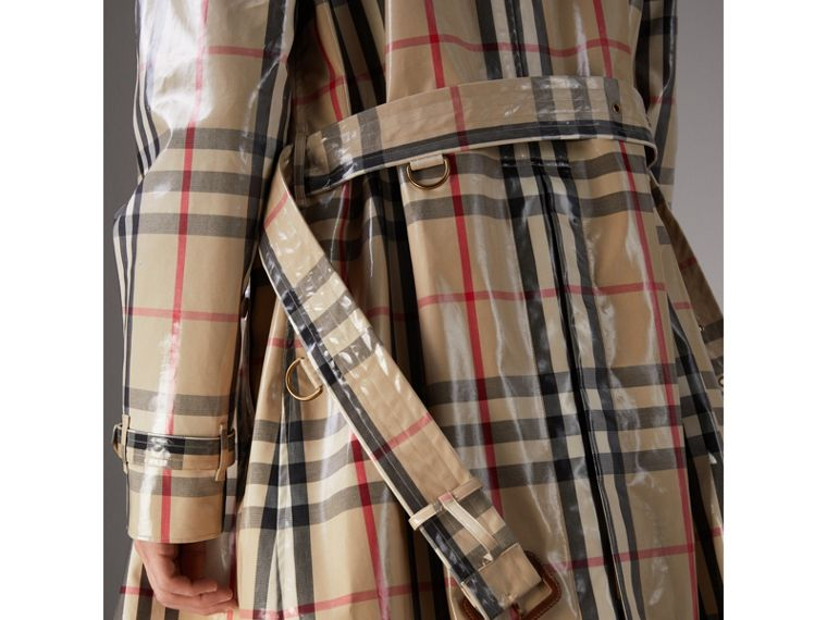 Laminated Check Cotton Trench Coat in New Classic - Men | Burberry - cell image 4