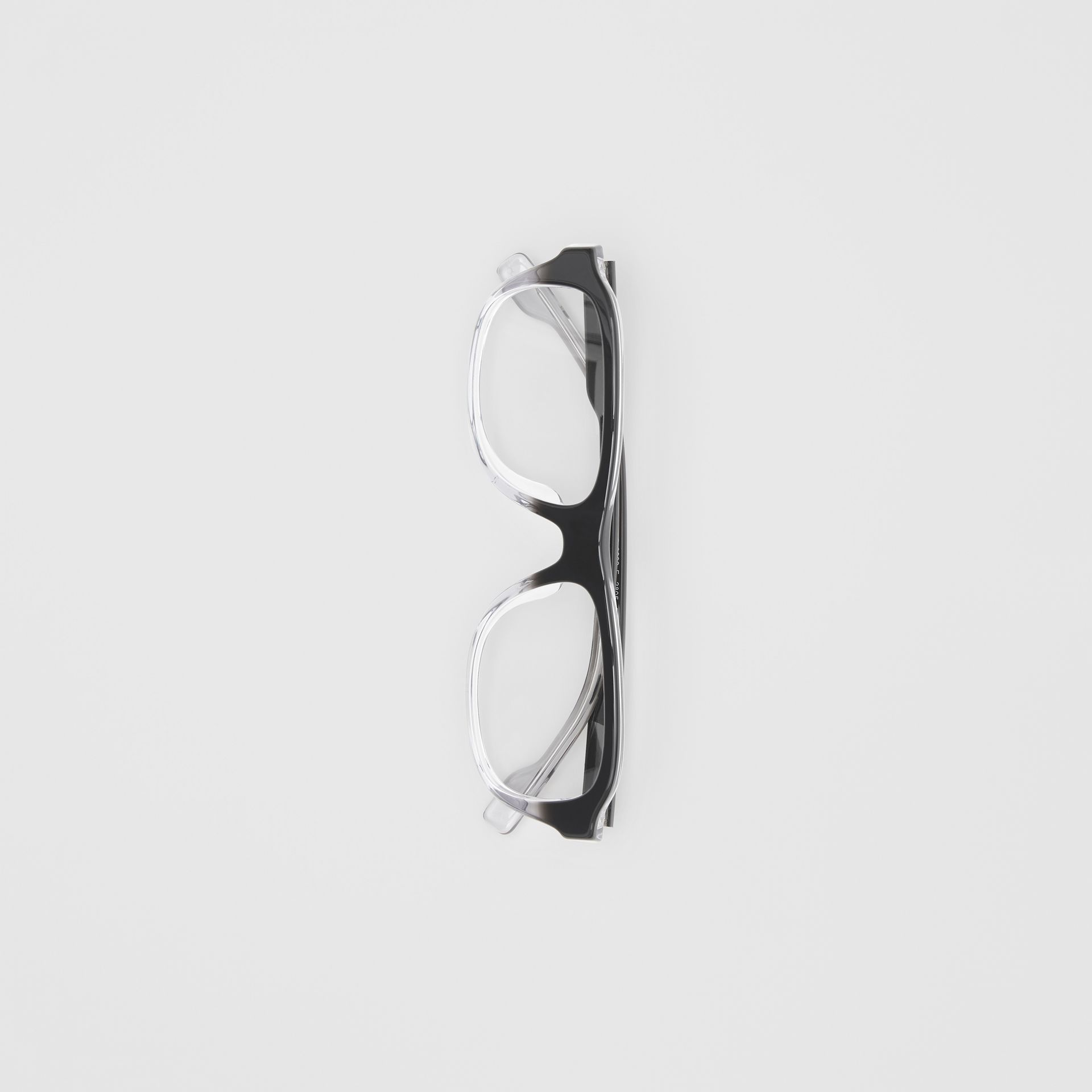 Gradient Detail Rectangular Optical Frames in Black - Men | Burberry - gallery image 3
