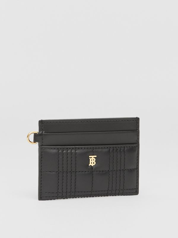 Monogram Motif Quilted Lambskin Card Case in Black - Women | Burberry - cell image 3