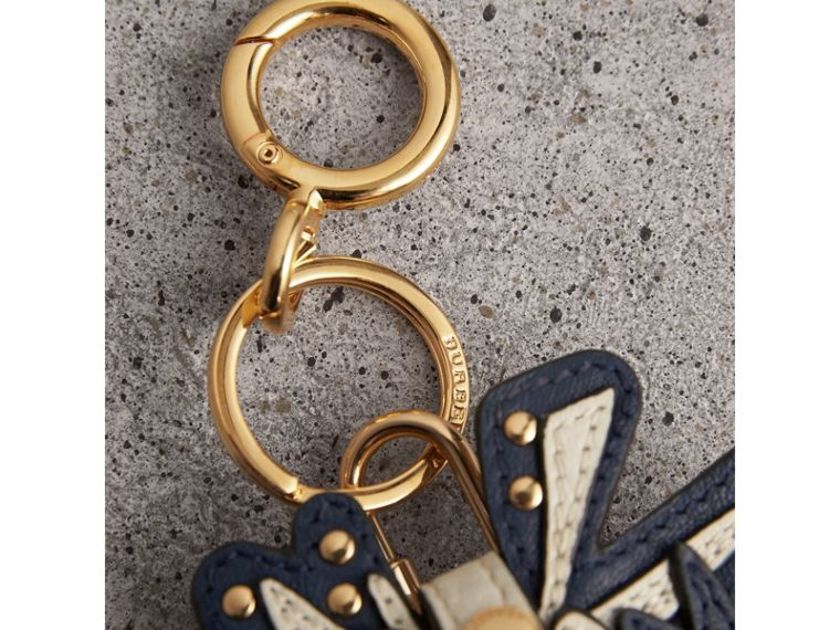 Doodle Motif Leather Key Charm and Padlock in Natural | Burberry - cell image 1