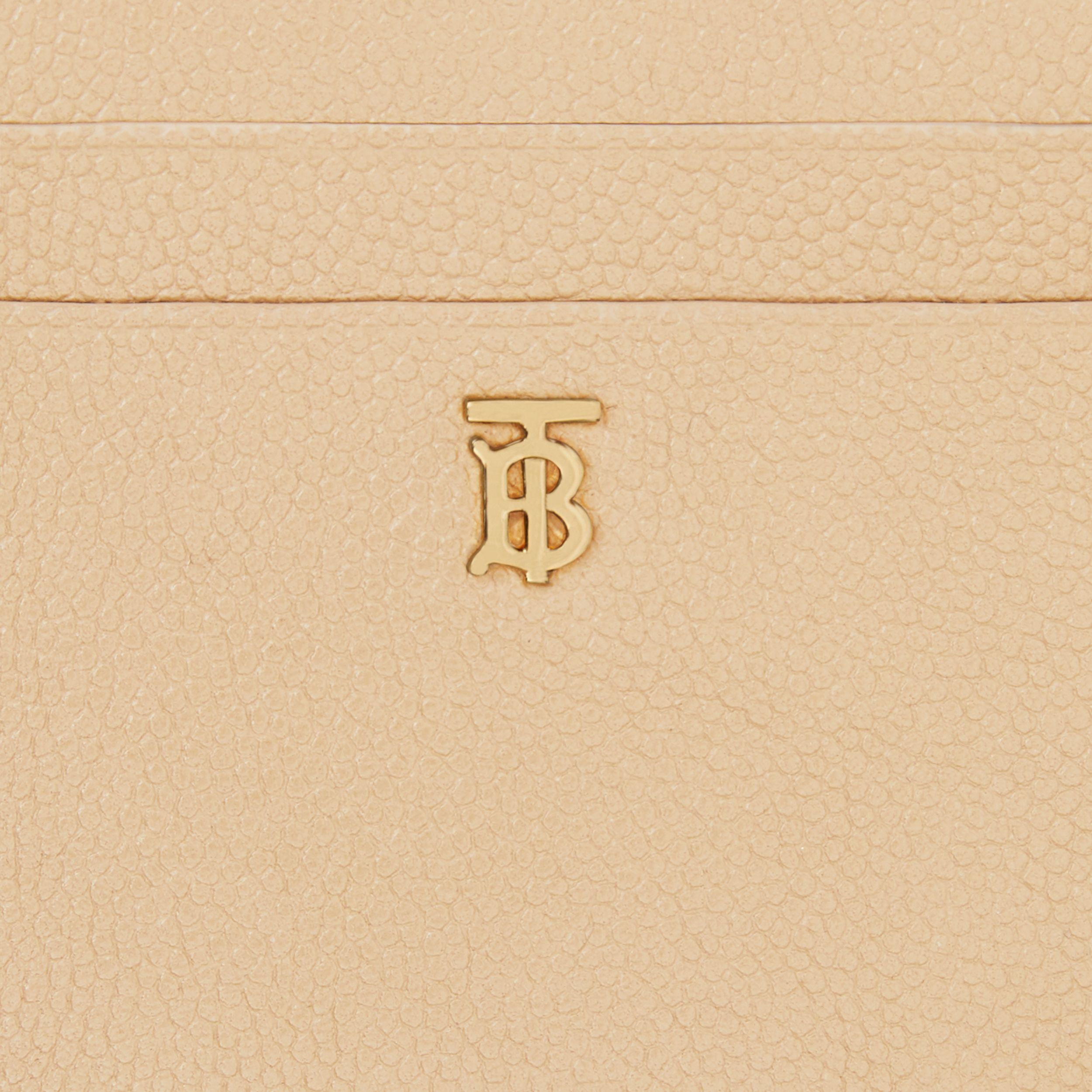 Monogram Motif Grainy Leather Zip Card Case in Archive Beige - Women | Burberry - 2
