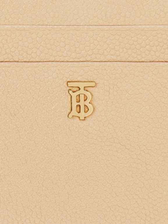 Monogram Motif Grainy Leather Zip Card Case in Archive Beige - Women | Burberry - cell image 1