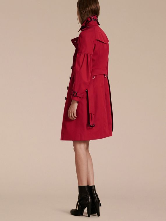 Rouge parade Trench-coat en gabardine de coton avec manches bouffantes Rouge Parade - cell image 2