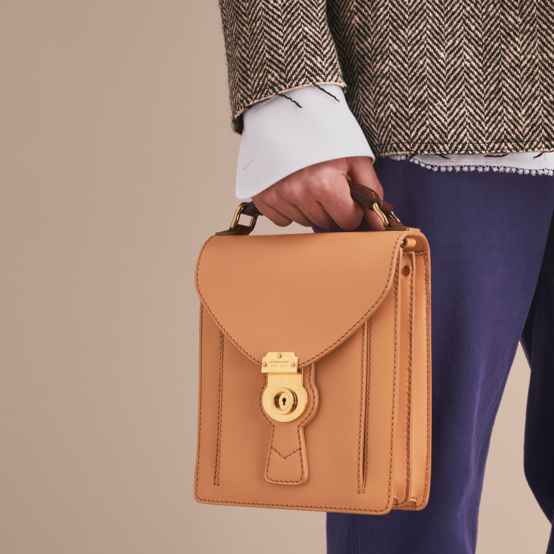 The Small DK88 Satchel with Alligator - gallery image 10