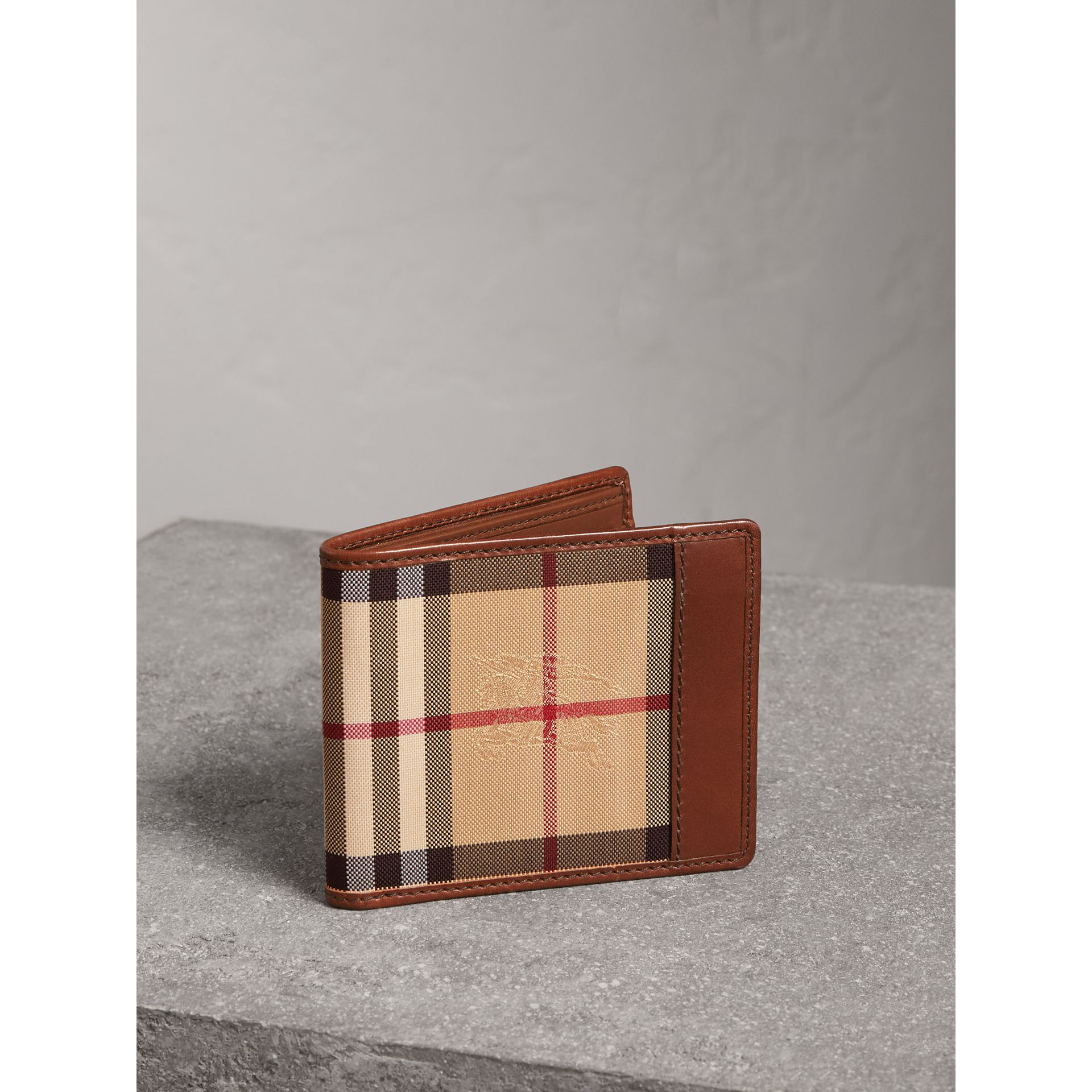 Horseferry Check ID Wallet in Tan - Men | Burberry Australia - gallery image 1