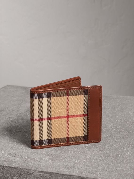 Horseferry Check ID Wallet in Tan