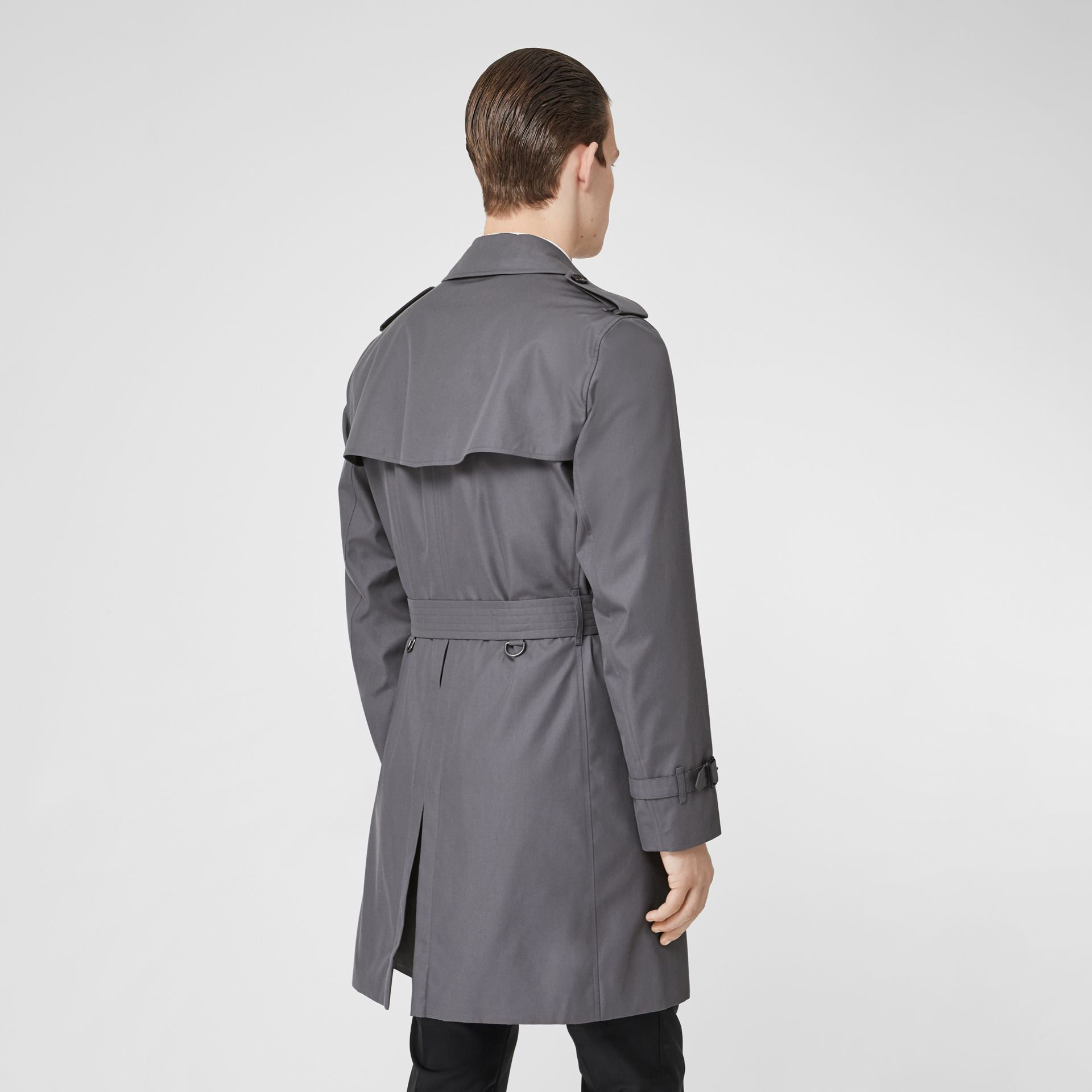 Trench Heritage The Chelsea (Gris Moyen) - Homme | Burberry Canada - photo de la galerie 2