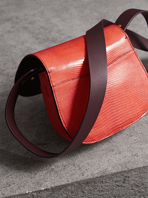The Satchel in Lizard in Coral Red - Women | Burberry - cell image 3