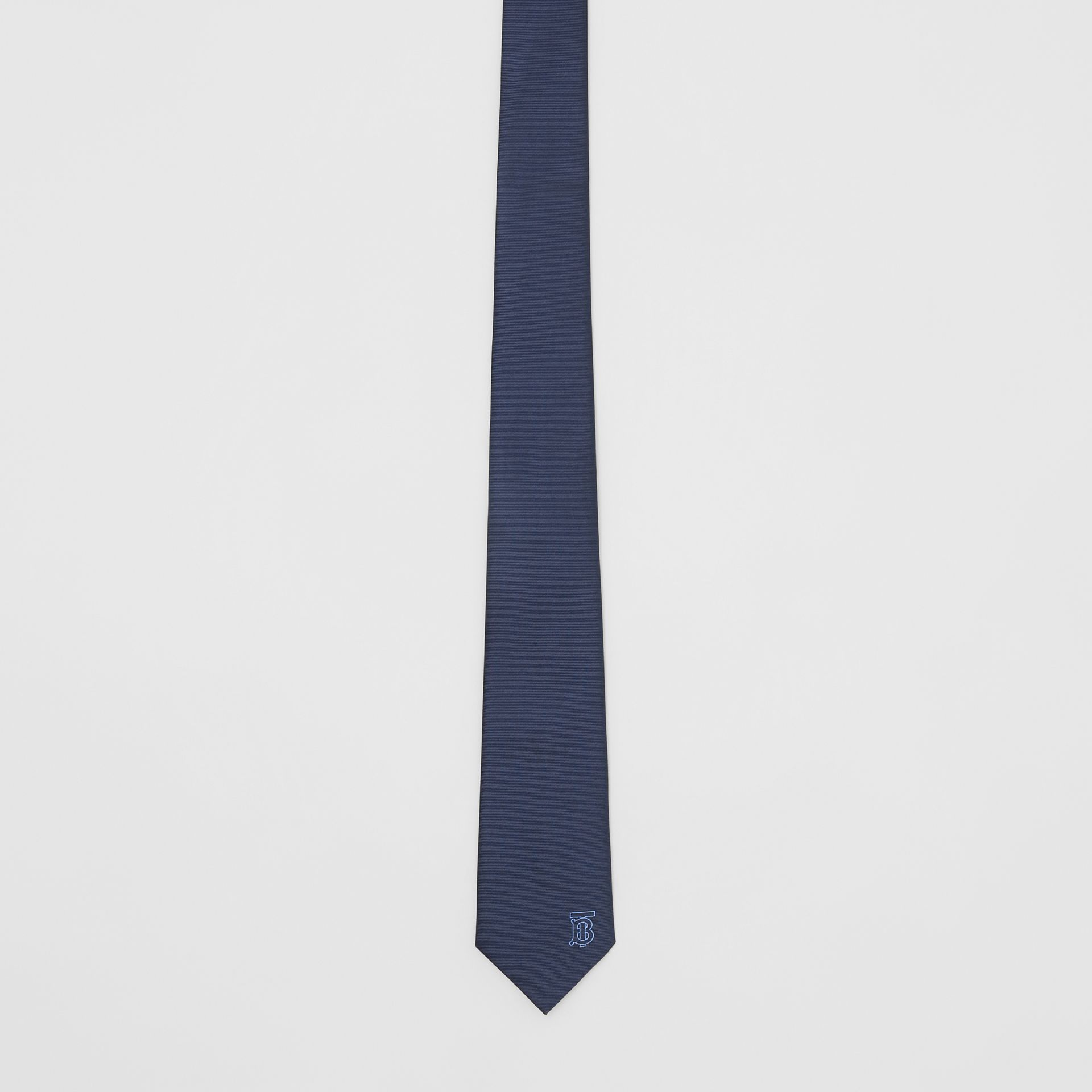 Classic Cut Monogram Motif Silk Tie in Bright Navy - Men | Burberry - gallery image 2