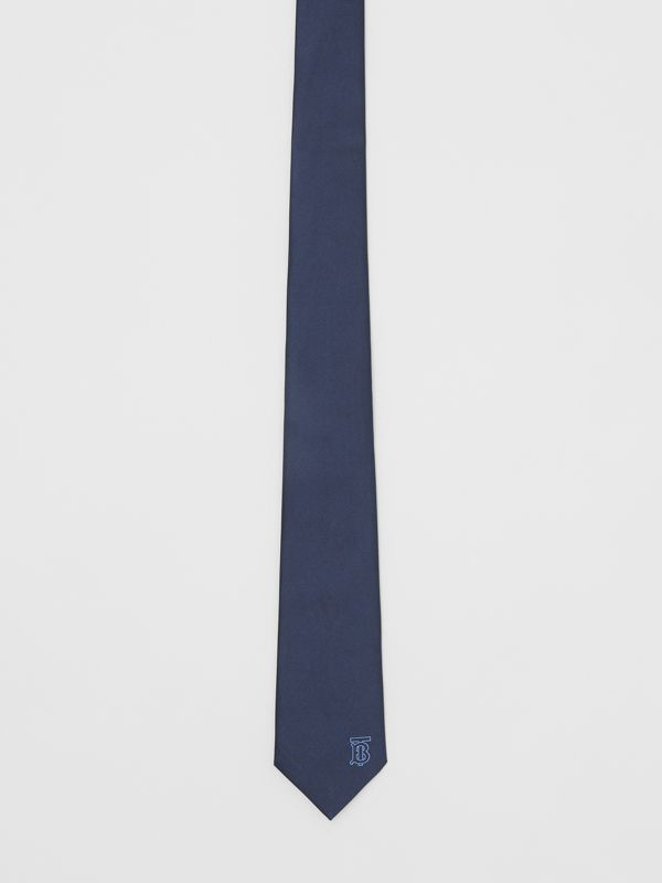 Classic Cut Monogram Motif Silk Tie in Bright Navy - Men | Burberry United Kingdom - cell image 2