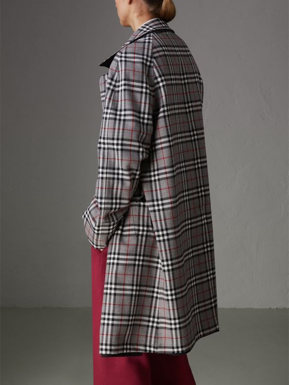 Reissued Reversible Car Coat in Black - Women | Burberry Australia - cell image 2
