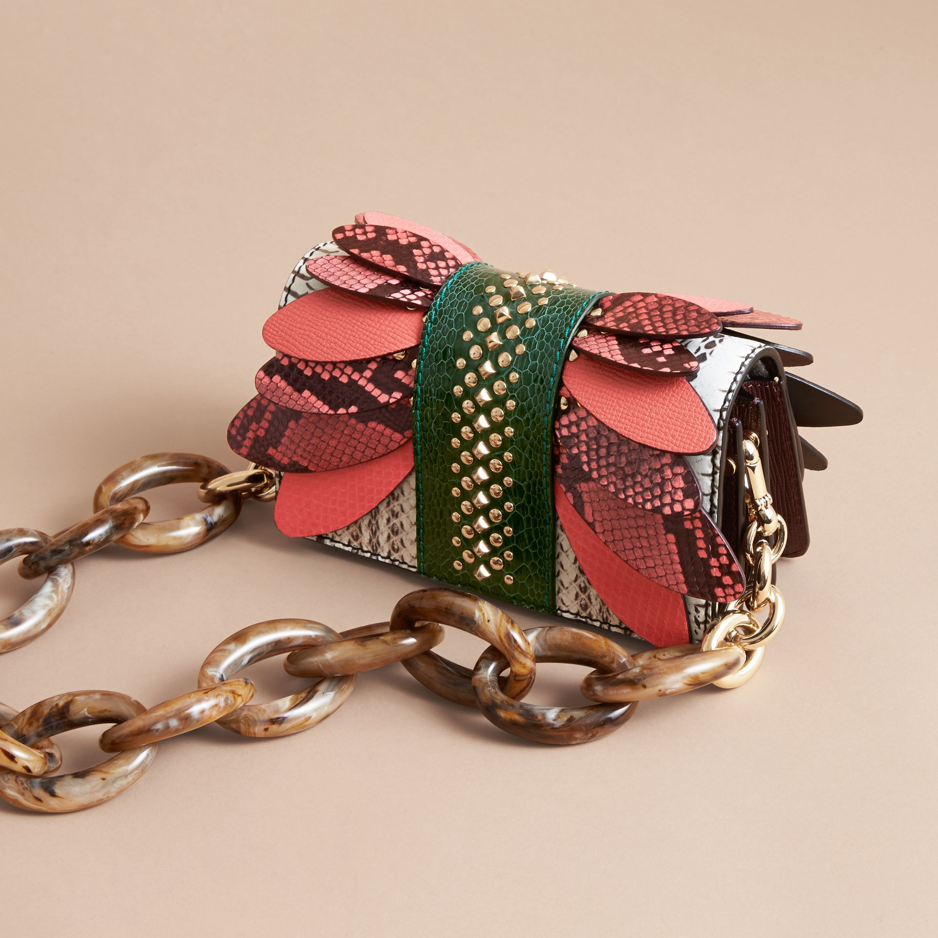 The Small Buckle Bag in Snakeskin and Leather - gallery image 5