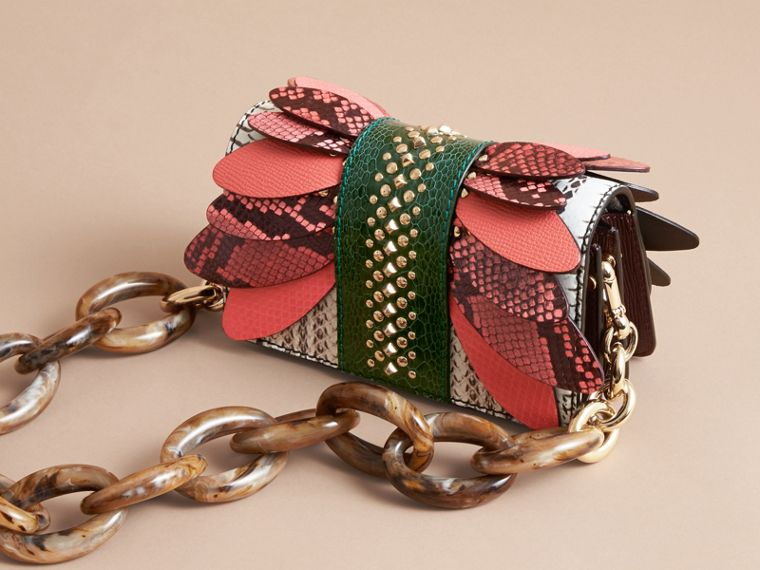 The Small Buckle Bag in Snakeskin and Leather - cell image 4