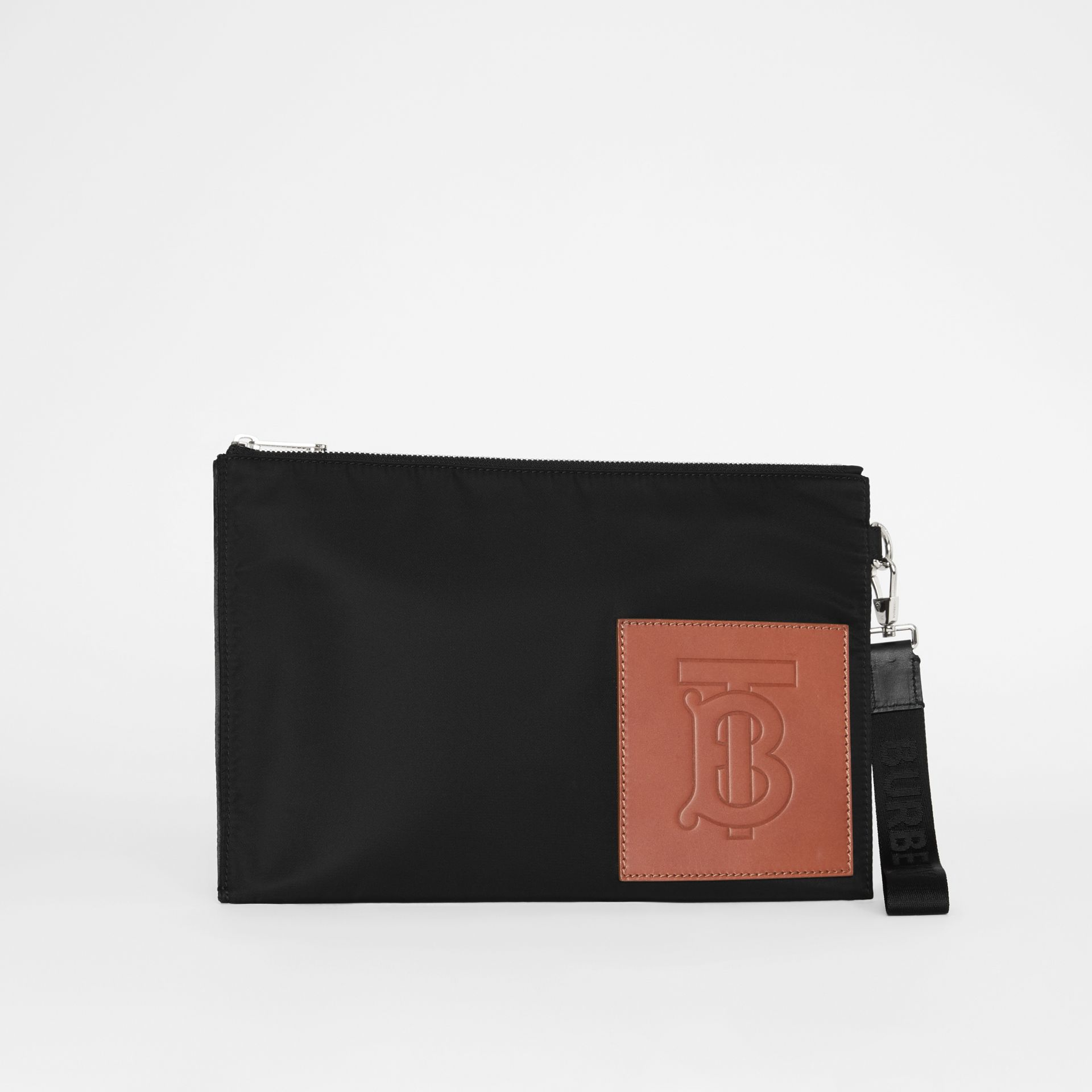 Monogram Motif Zip Pouch in Black | Burberry - gallery image 3
