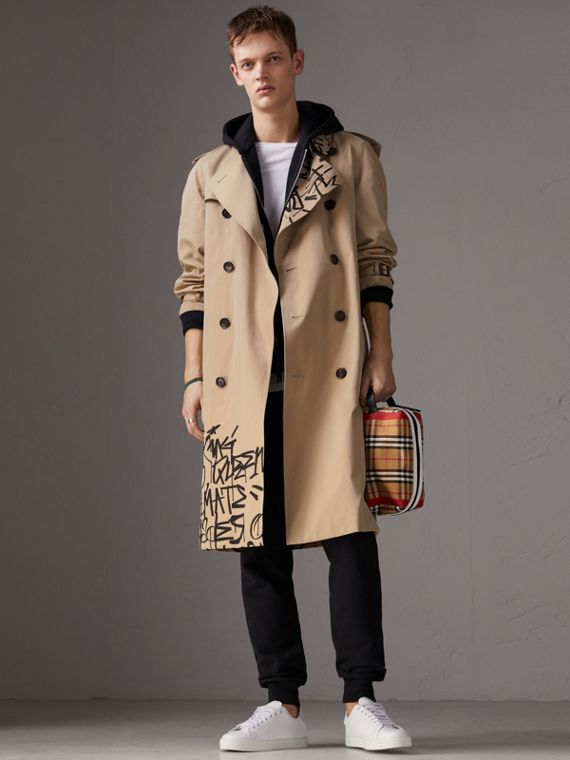Burberry x Kris Wu Gabardine Trench Coat in Honey