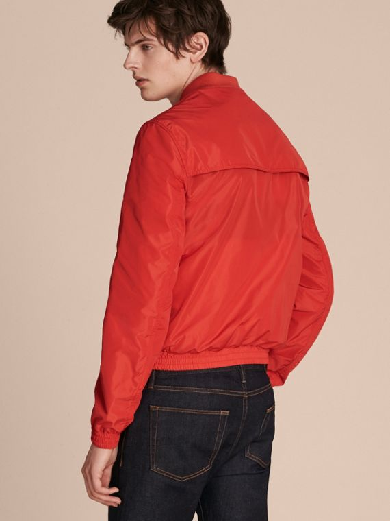 Orange red Showerproof Bomber Jacket - cell image 2