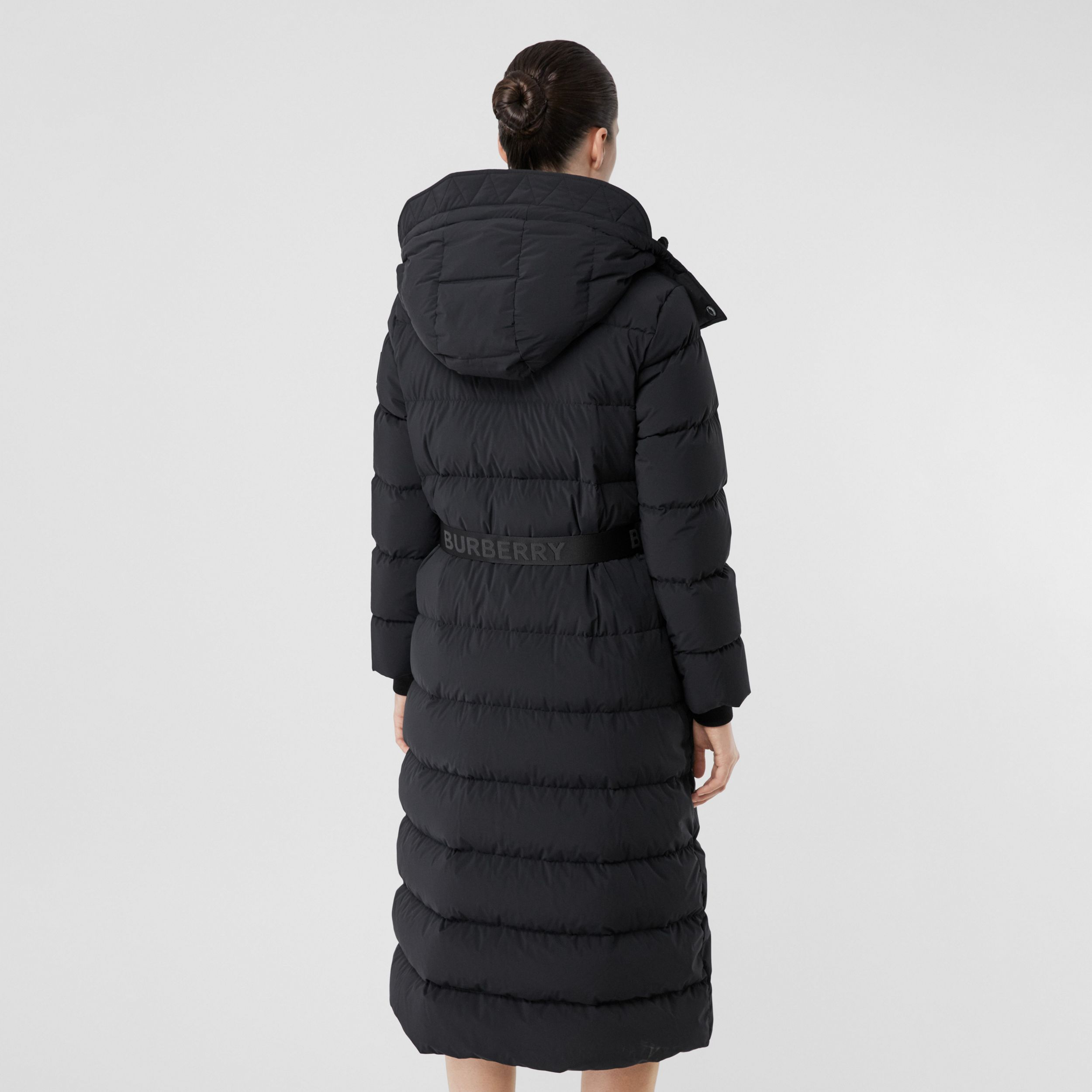 Detachable Hood Belted Puffer Coat in Black - Women | Burberry Hong Kong S.A.R. - 3