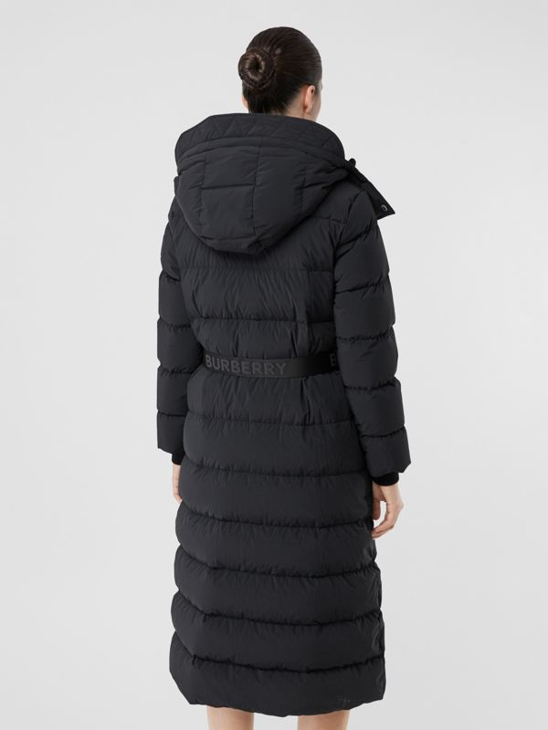 Detachable Hood Belted Puffer Coat in Black - Women | Burberry United Kingdom - cell image 2