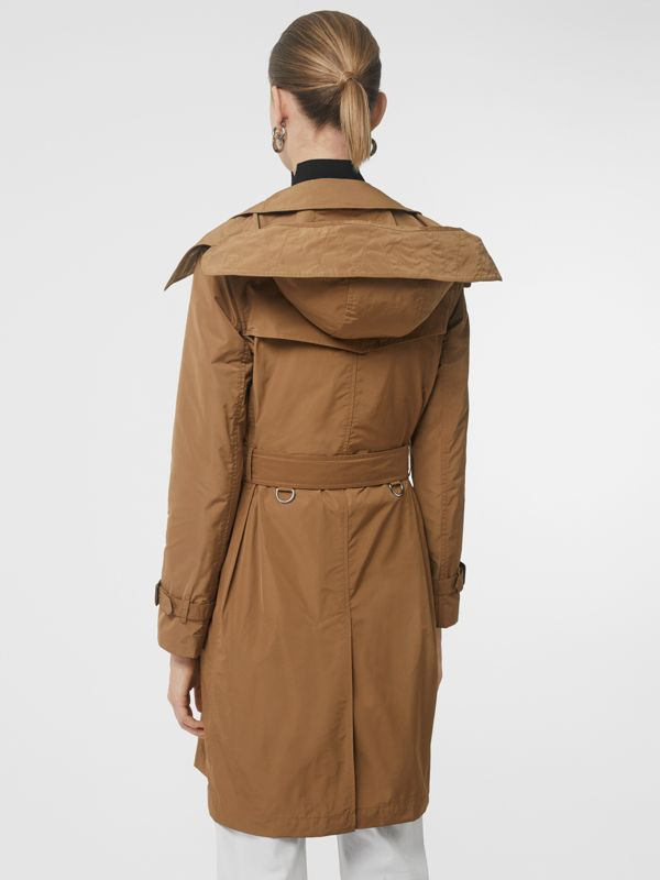 Detachable Hood Taffeta Trench Coat in Camel - Women | Burberry - cell image 2
