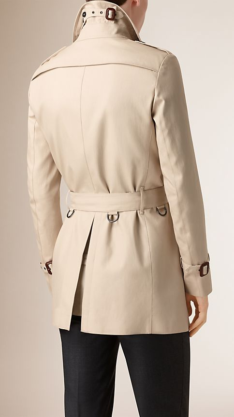 Stone Double-breasted Cotton Trench Coat - Image 3