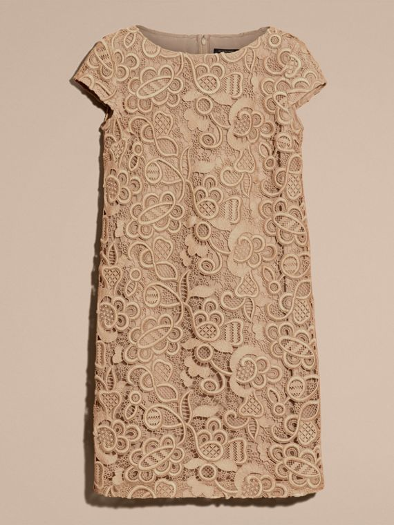 Nude Online Exclusive Swiss Lace Shift Dress - cell image 3