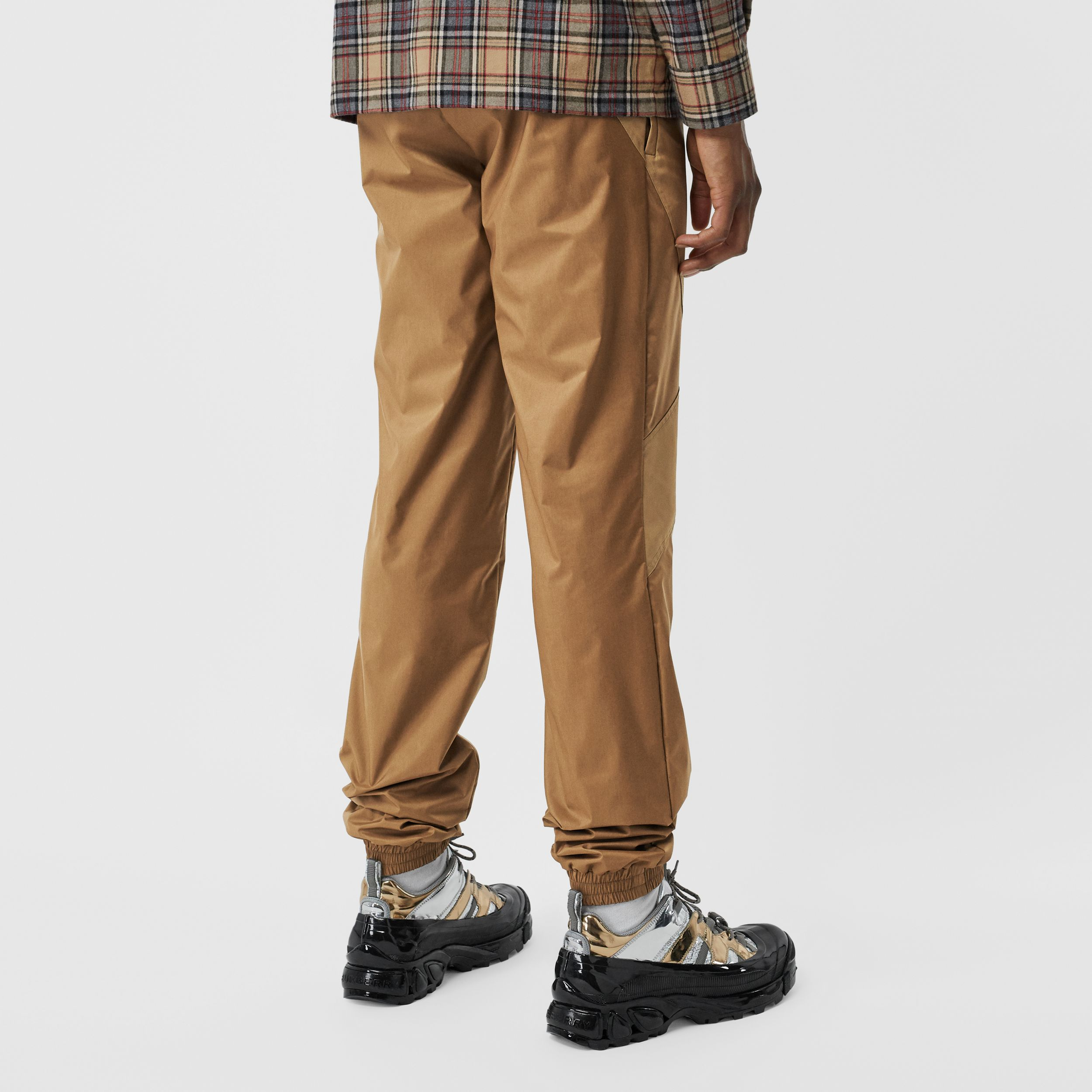 Two-tone Nylon Trackpants in Warm Walnut - Men | Burberry - 3
