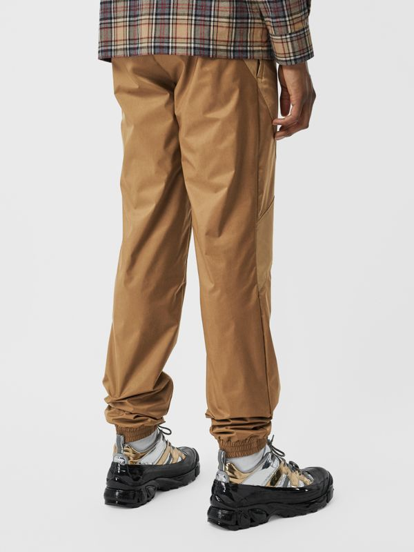 Two-tone Nylon Trackpants in Warm Walnut - Men | Burberry United States - cell image 2