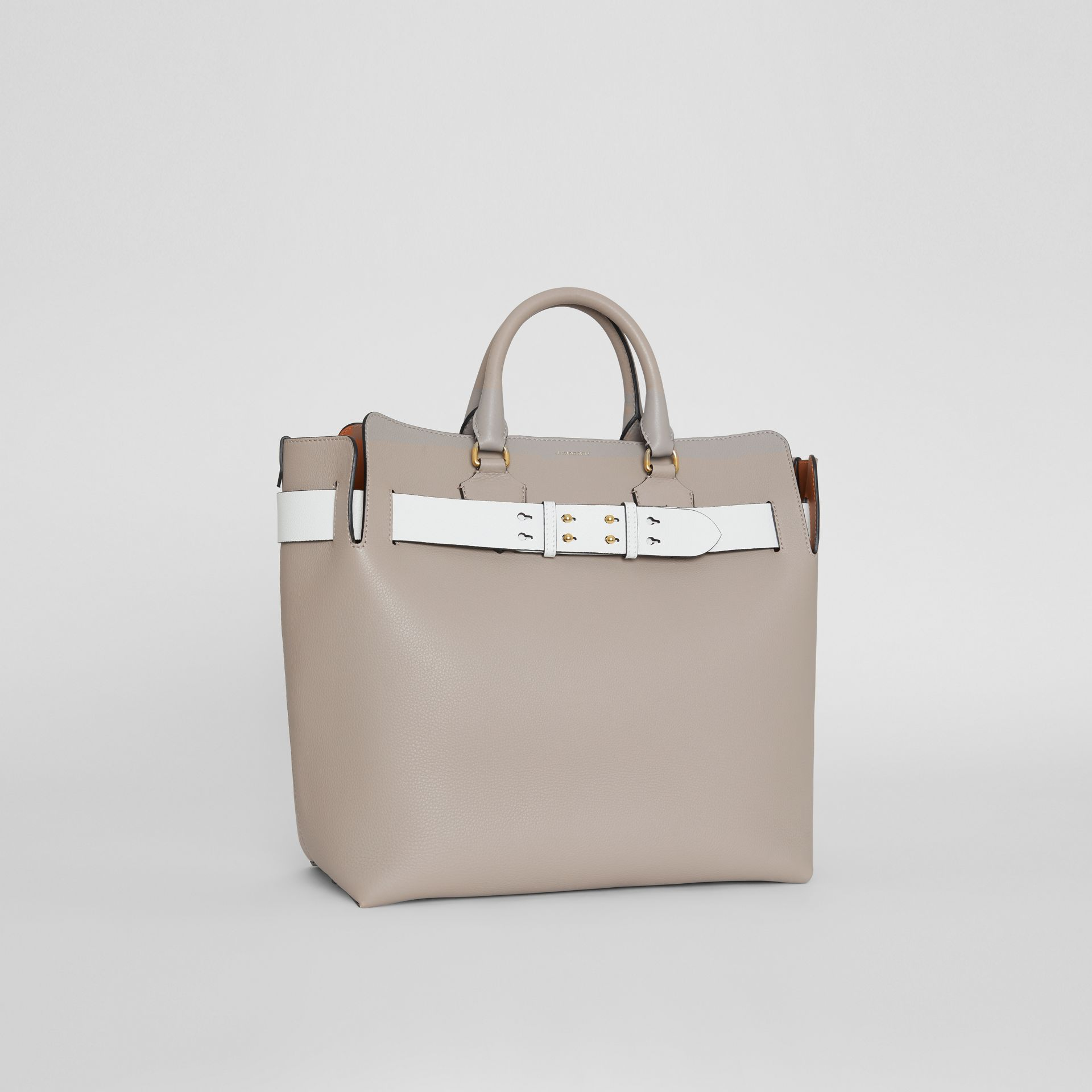 The Large Leather Belt Bag in Mineral Grey | Burberry Singapore - gallery image 8