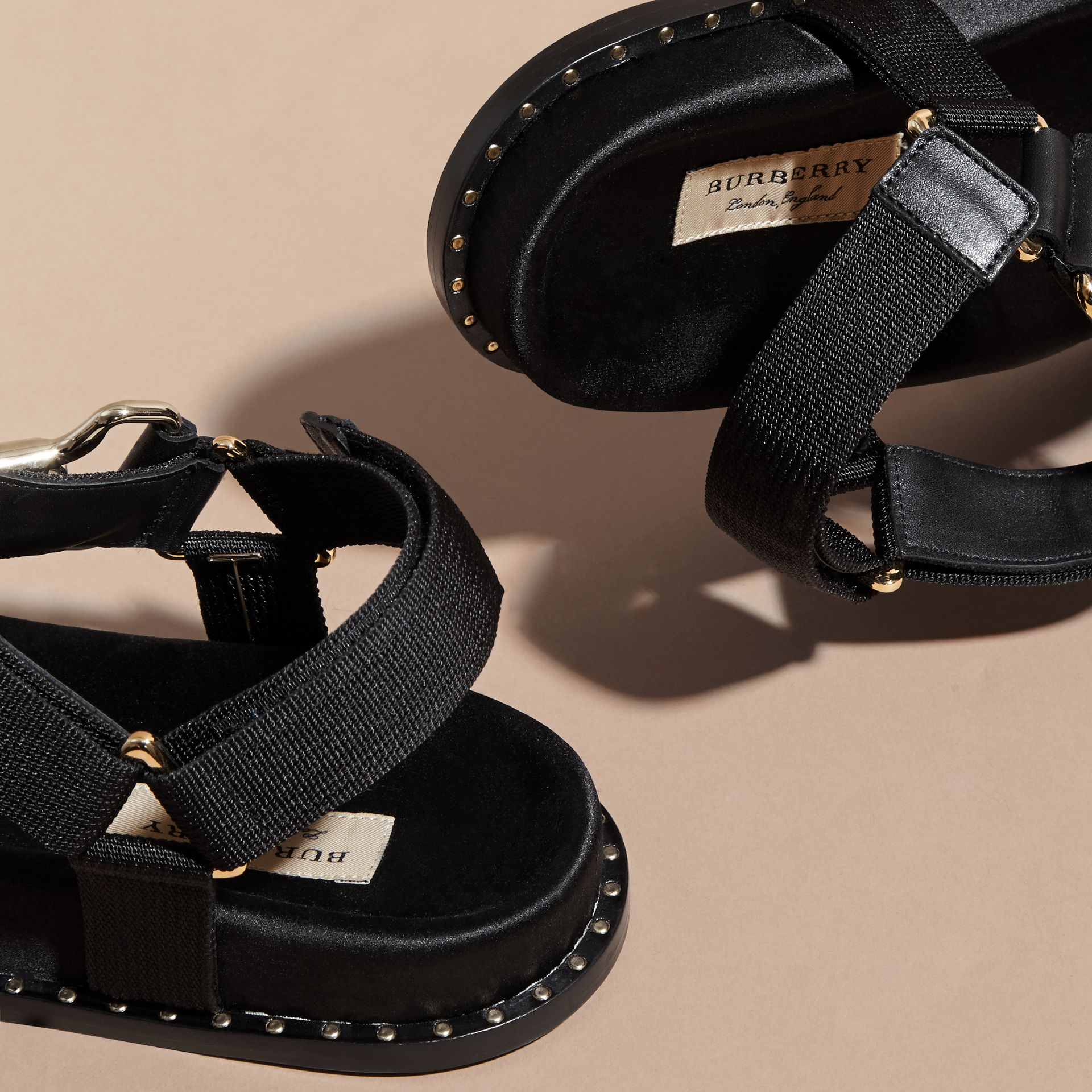 Hardware Detail Strappy Sandals - Women | Burberry - gallery image 5