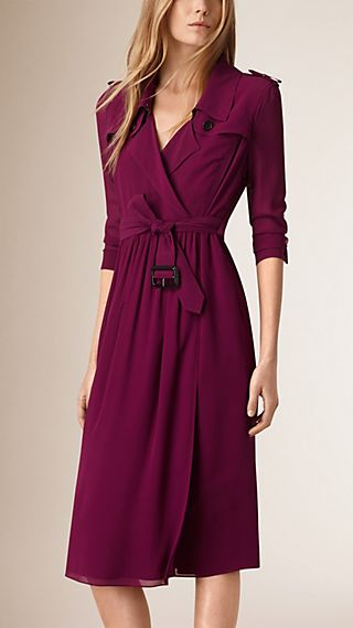 Silk Trench Dress