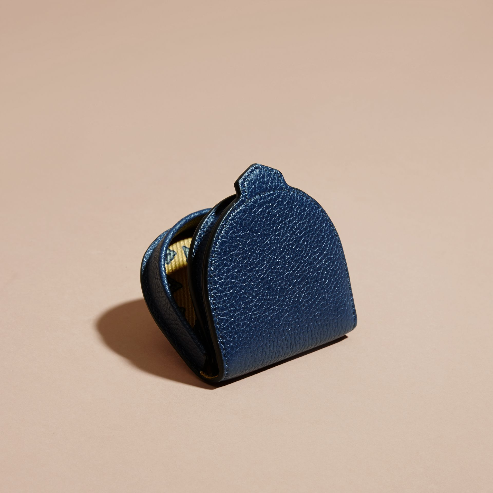 Bright navy Grainy Leather Coin Case Bright Navy - gallery image 4
