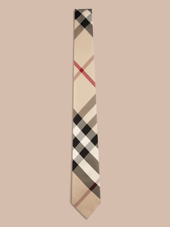 New classic check Modern Cut Check Silk Tie - cell image 3