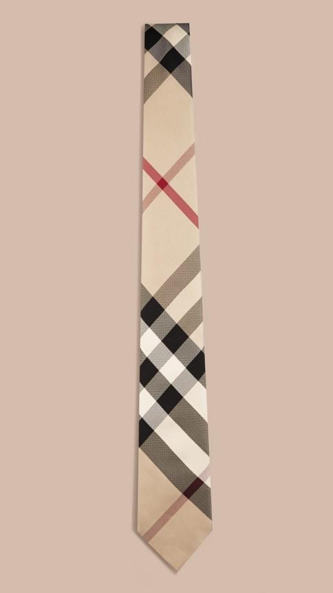 New classic check Modern Cut Check Silk Tie - Image 4