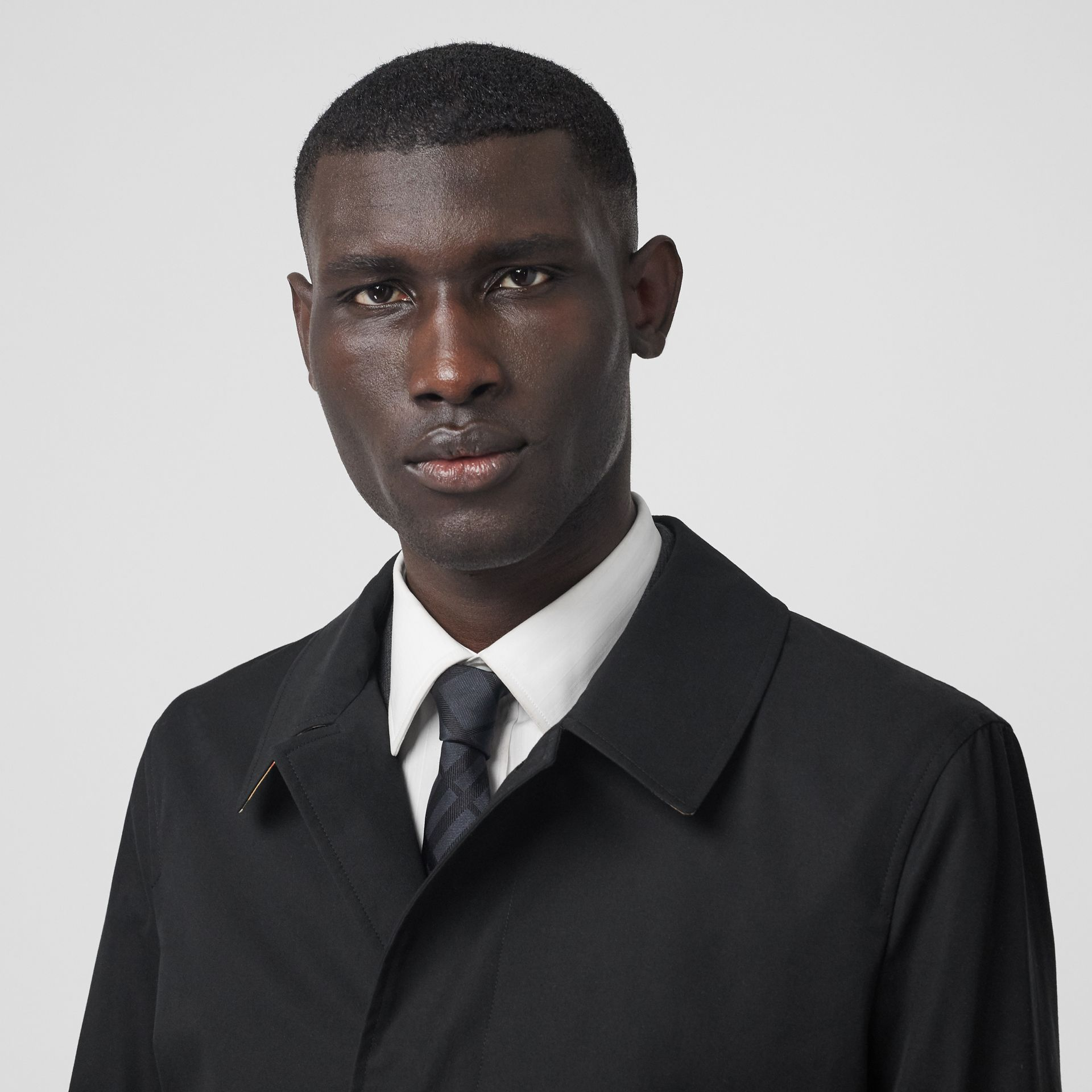 The Pimlico Heritage Car Coat in Black - Men | Burberry - gallery image 9