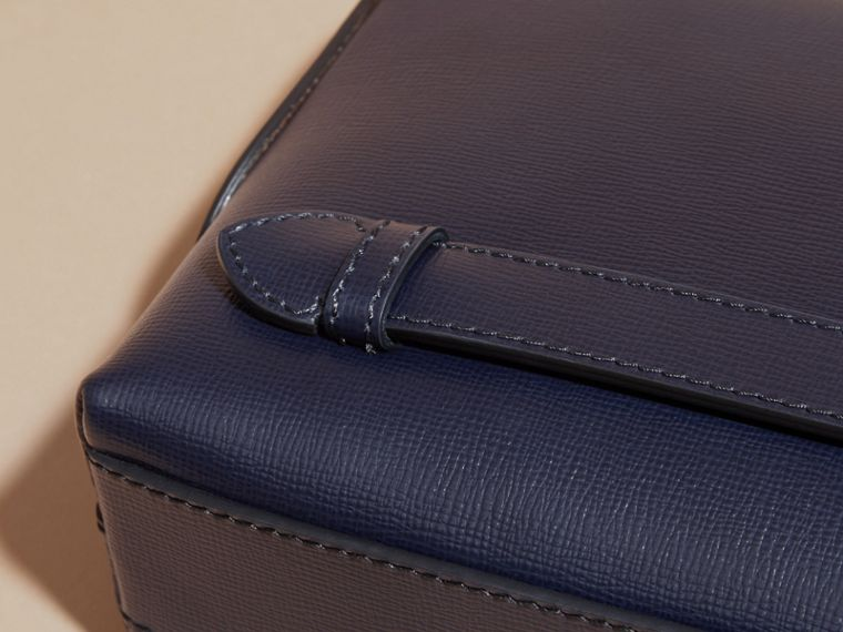 London Leather Pouch in Dark Navy - Men | Burberry Australia - cell image 1