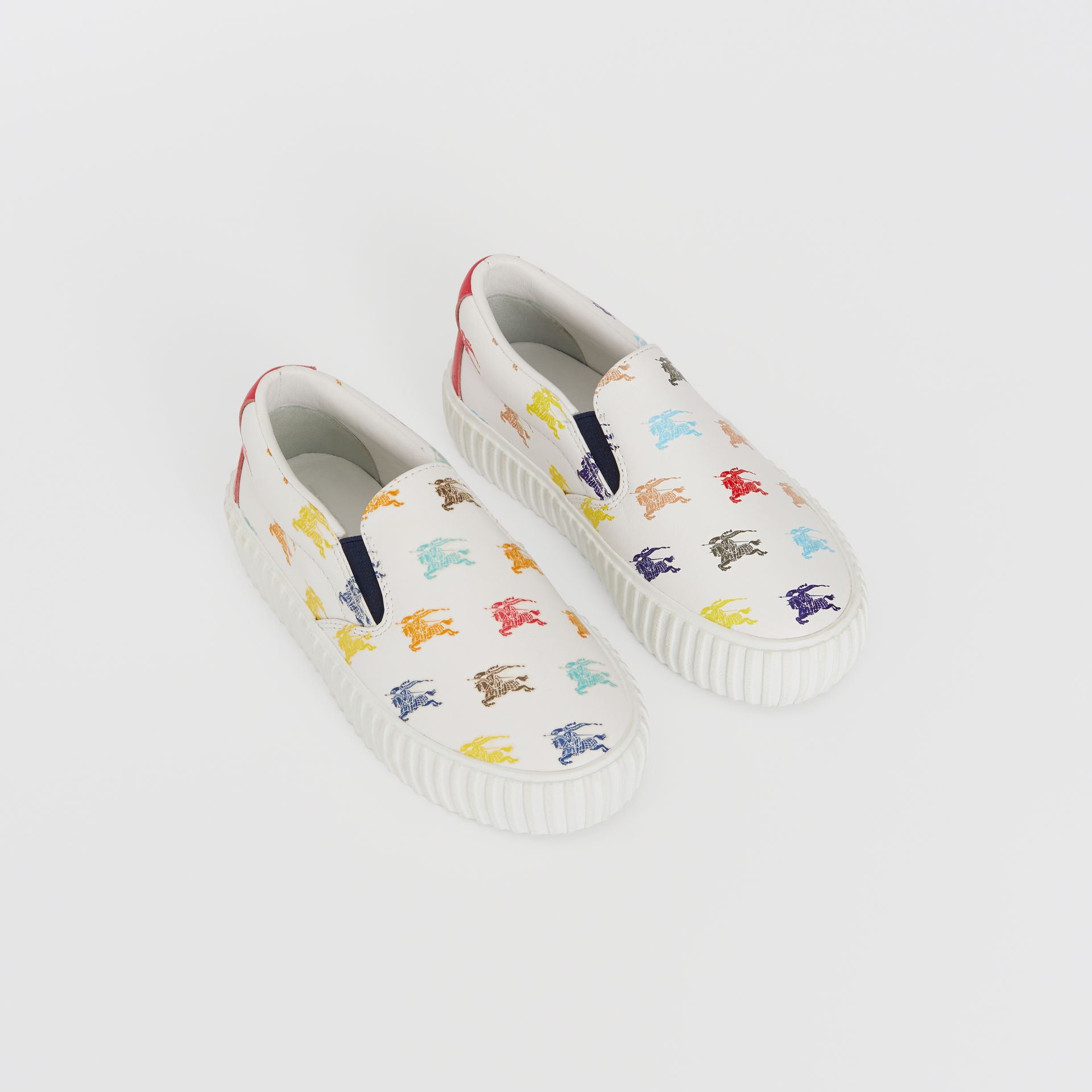 EKD Leather Slip-on Sneakers in Optic White - Children | Burberry - gallery image 0