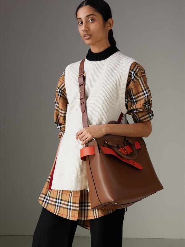 The Medium Leather Belt Bag in Tan - Women | Burberry Australia - cell image 3