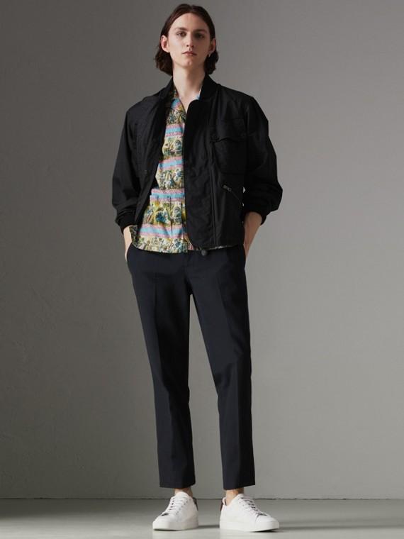Куртка «пилот» с оригинальными карманами (Черный)