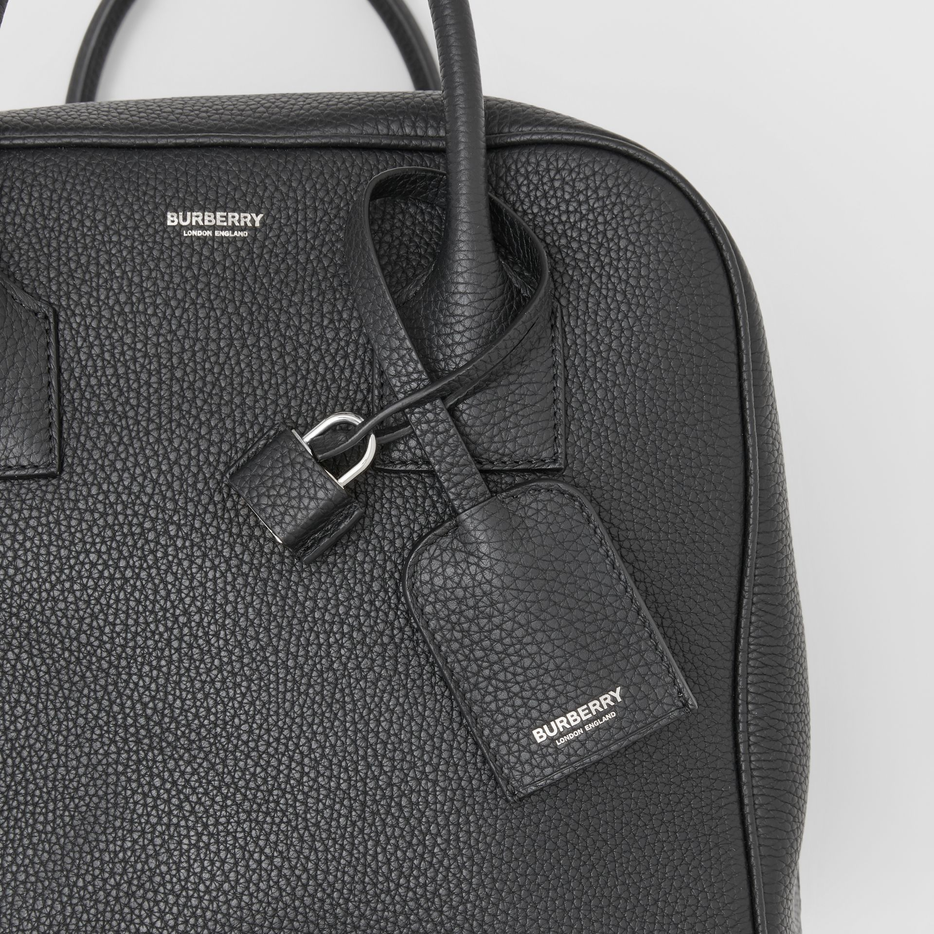 Medium Leather Cube Bag in Black - Women | Burberry - gallery image 8
