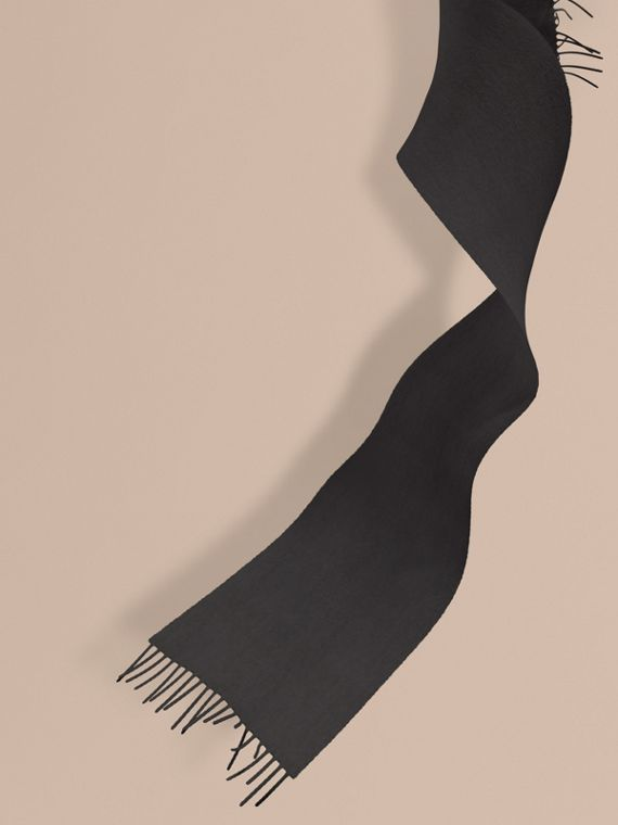 The Mini Classic Cashmere Scarf in Charcoal