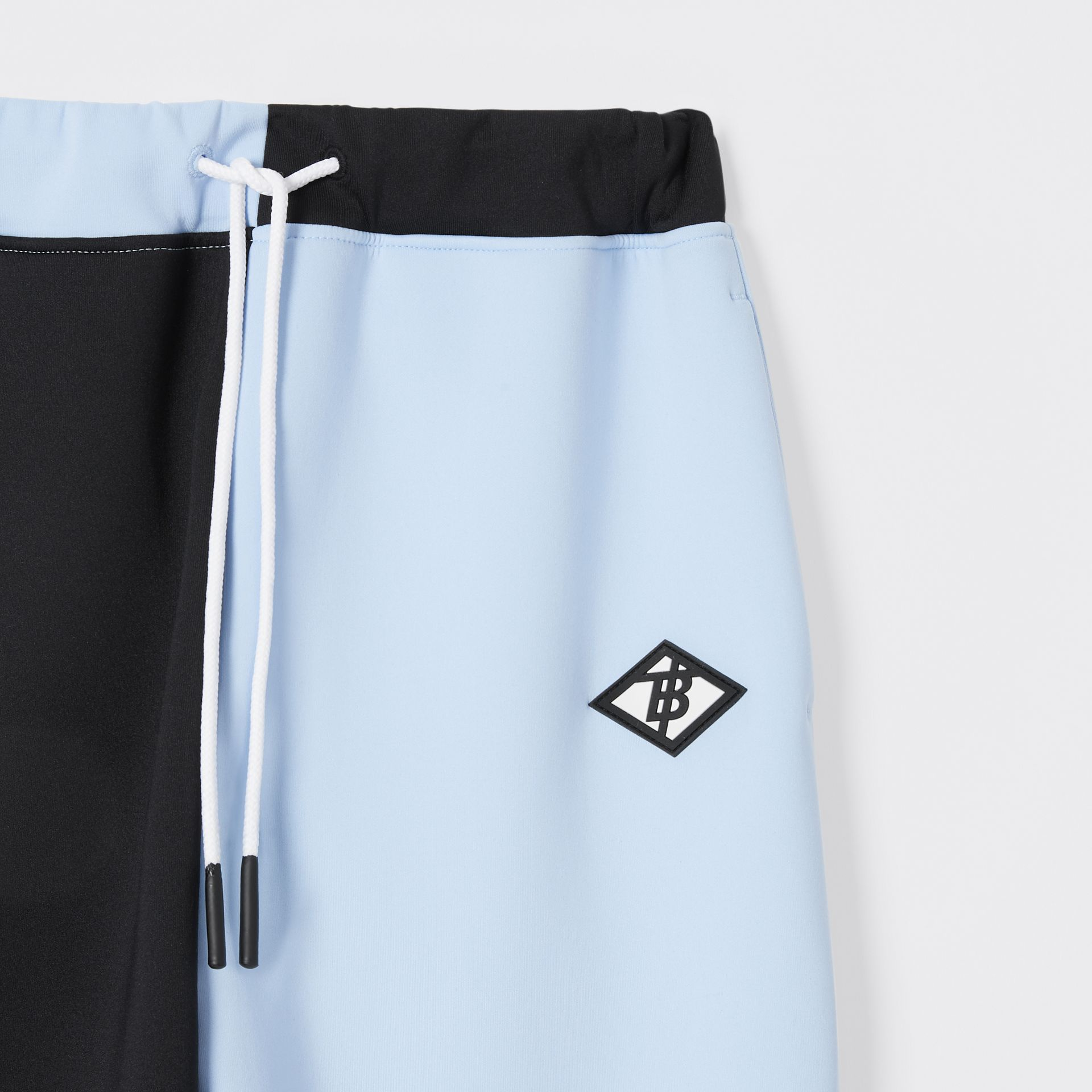 Logo Graphic Two-tone Stretch Jersey Trackpants in Pale Blue | Burberry United Kingdom - gallery image 5