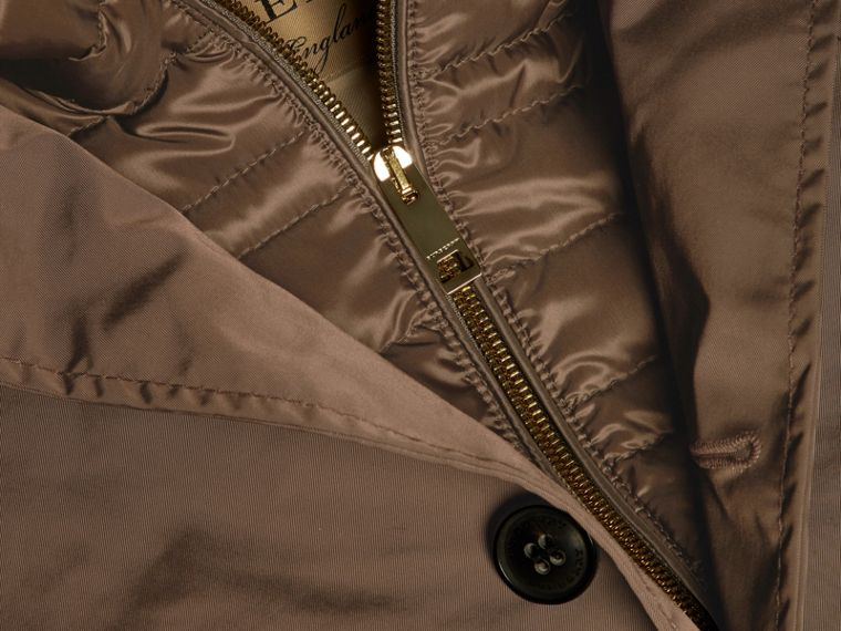 Chocolate Showerproof Car Coat with Detachable Down-filled Warmer Chocolate - cell image 1
