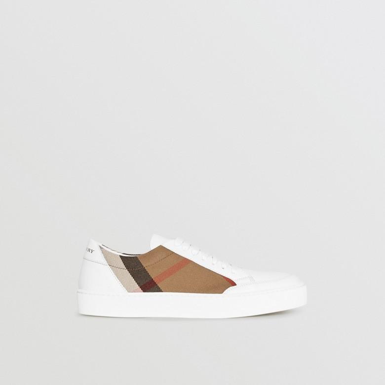 Burberry - Sneakers en cuir avec détails check - 6