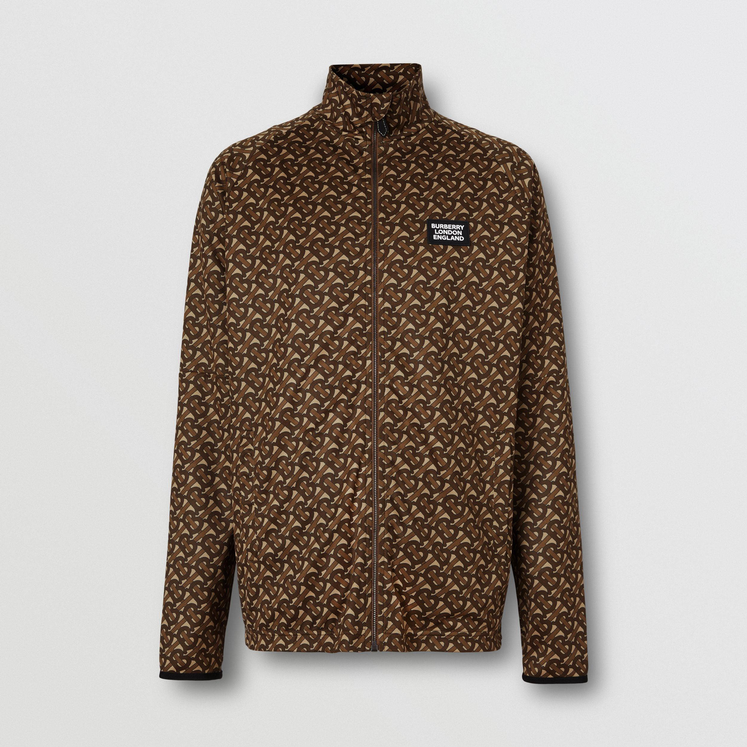 Monogram Print Technical Twill Track Top - Men | Burberry Australia - 4